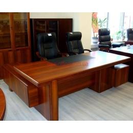 Стол руководителя Мукс орех YDK-306 (2100*1000/1900*Н760)