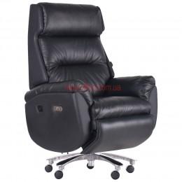Кресло реклайнер VIP Байден (Biden) Black кожа черная