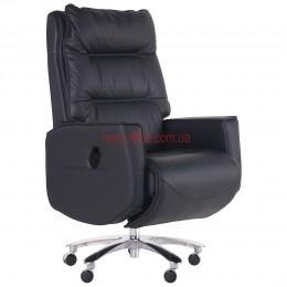 Кресло реклайнер VIP Трамп (Trump) Black кожа черная