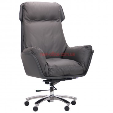 Кресло VIP Вилсон (Wilson) Gray DT кожа серая