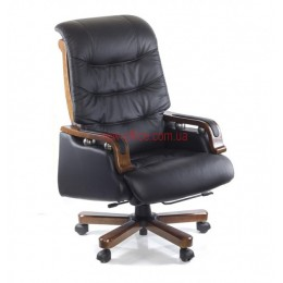 Кресло кожаное YS-361A EXTRA Relax LE черный