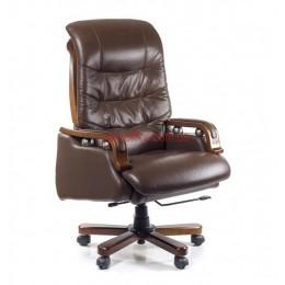 Кресло кожаное YS-361A EXTRA Relax LE коричневый