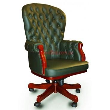 Кресло кожаное Честерфилд EXTRA MB LE зеленый