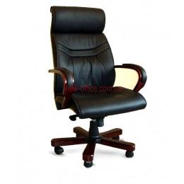 Кресло кожаное Доминго EXTRA MB LE черный