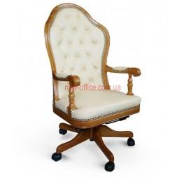 Кресло кожаное Эмбасси EXTRA DT LE бежевый