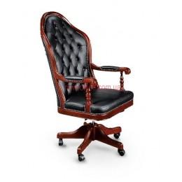 Кресло кожаное Эмбасси EXTRA DT LE черный
