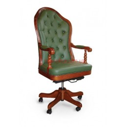 Кресло кожаное Эмбасси EXTRA DT LE зеленый