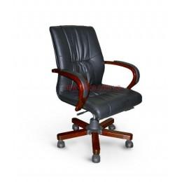 Кресло кожаное Корсика EXTRA LB DT LE черный