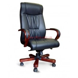 Кресло кожаное Корсика EXTRA MB LE черный