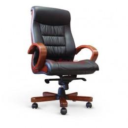 Кресло кожаное Милан EXTRA MB LE черный