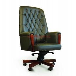 Кресло кожаное Оксфорд EXTRA MB LE зеленый