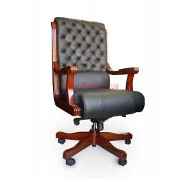 Кресло кожаное Сорренто EXTRA MB LE черный