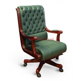 Кресло кожаное Сорренто EXTRA MB LE зеленый