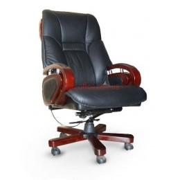 Кресло кожаное Спрингс EXTRA Relax LE черный