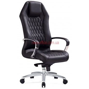 Кресло F-103 BL кожа  черная