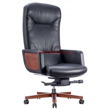 Кресло F-1629 кожа черная