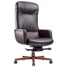 Кресло F-1629 кожа коричневая