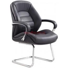 Кресло F-381 BE кожа черная