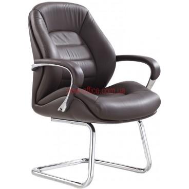 Кресло F-381 BE кожа коричневая