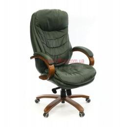 Кресло кожаное VA-104HB EXTRA MB LE-зеленый