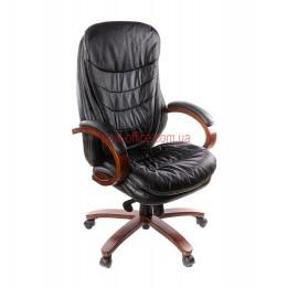 Кресло кожаное VA-104HB EXTRA MB LE черное
