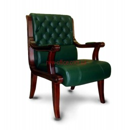 Кресло кожаное Сорренто EX CF DA зеленое