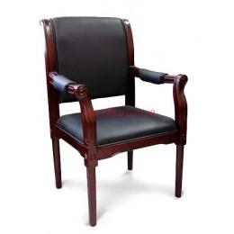 Кресло кожаное Версаль EX CF DA черное