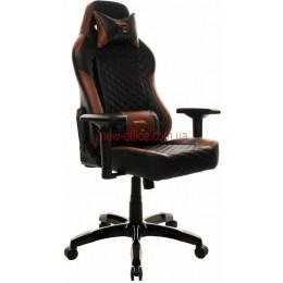 Кресло GT Raser X-2604-4D Tilt Eco черный/коричневый