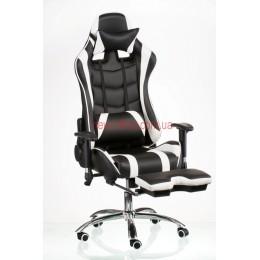 Кресло Экстрим Рэйс (Extreme Race) Chrome Relax Eco черный/белый