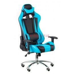 Кресло Экстрим Рэйс (Extreme Race) Relax Eco черный/голубой