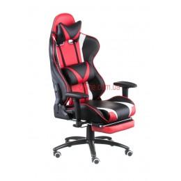 Кресло Экстрим Рэйс (Extreme Race) Relax Eco черный/красный с подножкой