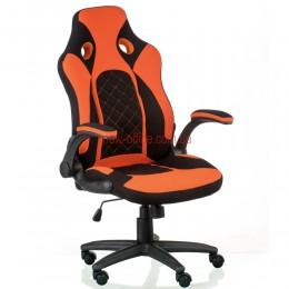 Кресло Кроз (Kroz) Tilt Ткань черный/оранжевый