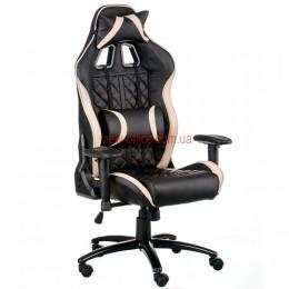 Кресло Экстрим Рэйс 3 (Extreme Race 3) Relax Eco черный/кремовый