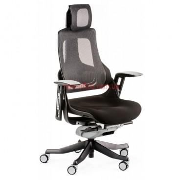 Кресло Вау Нэт (Wau Net) Synchro Ткань-черный/Сетка-серый