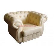 Кресло кожаное COSMO-1S бежевый (1150х920хН750)