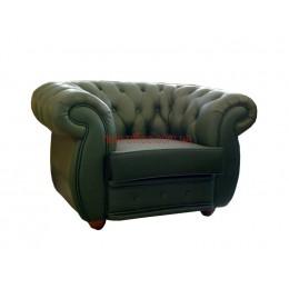 Кресло кожаное COSMO-1S зеленый (1150х920хН750)