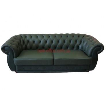 Диван кожаный COSMO-3S зеленый (2000х920хН750)